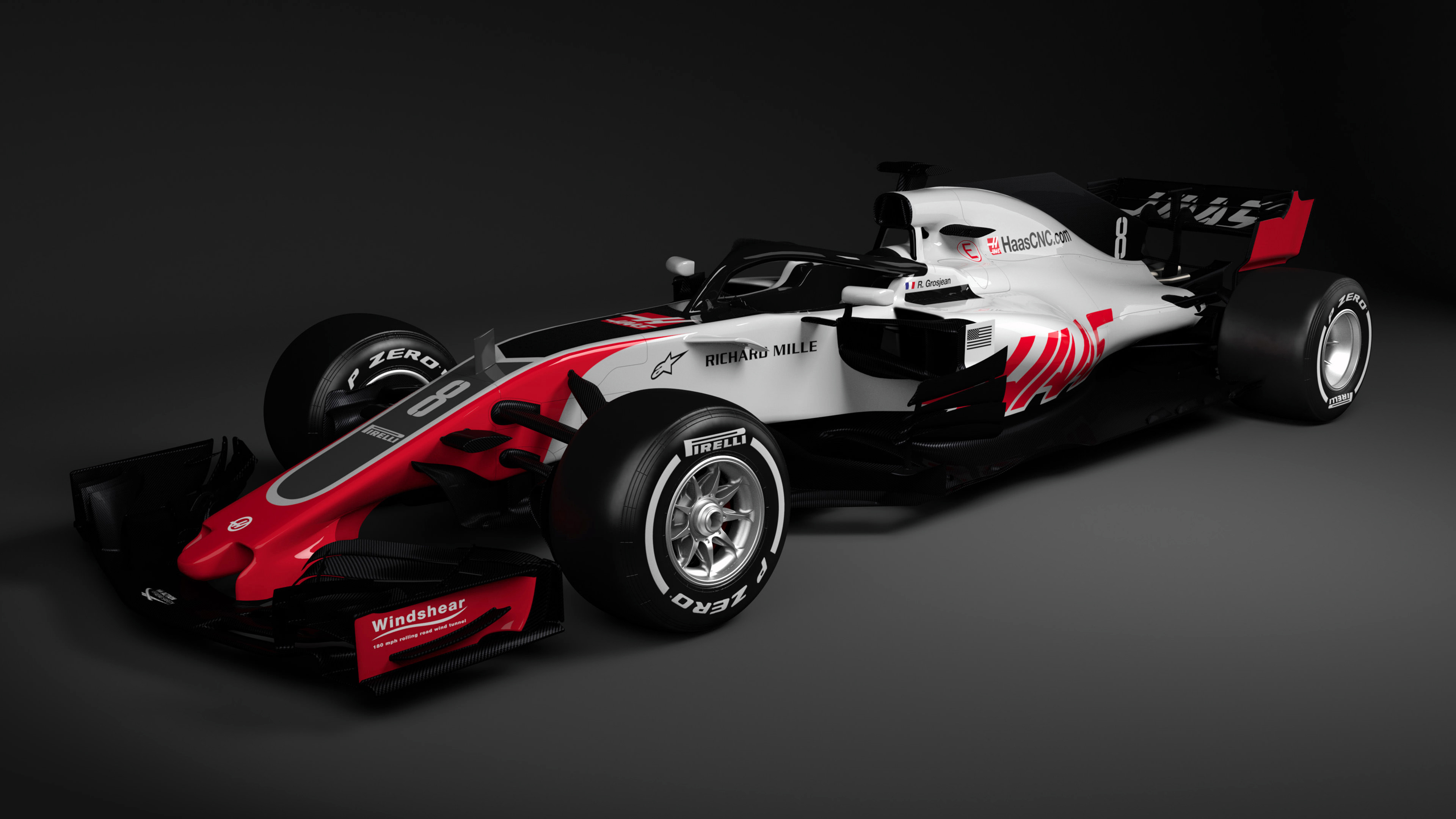 Haas F1 Formula 1 Car 4K 2 Wallpaper HD Car Wallpapers ID 9599 3840x2160