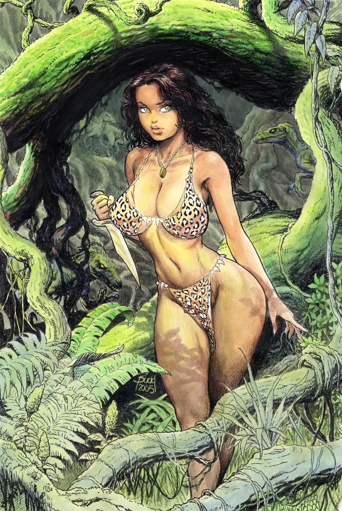 Cavewoman runs the Savage Jungle Gauntlet   Battles   Comic Vine 666x994