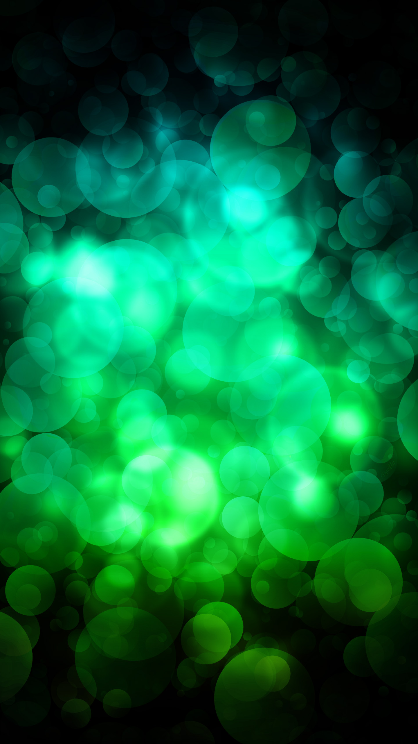quad hd mobile phone wallpapers 1440x2560 green circles 1440x2560