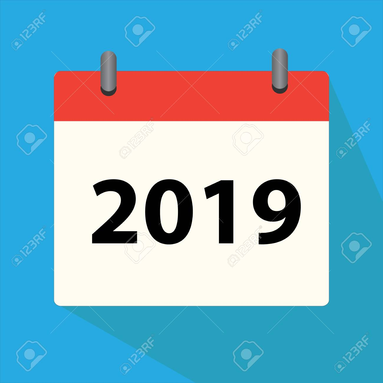 Calendar 2019 Icon On White Background Calendar 2019 Sign For 1300x1300