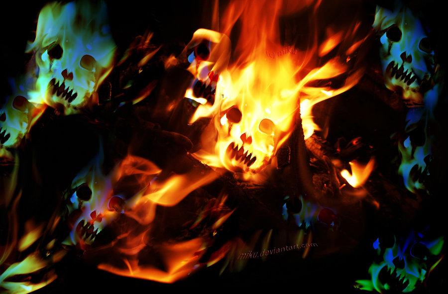fire skull wallpaper by miku dwa wallpapers55com   Best Wallpapers 900x591