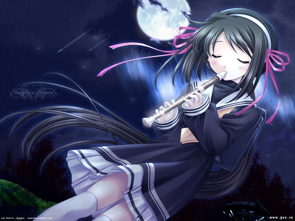 Manga joueuse de flute wallpapers   W3 Directory Wallpapers 1024x768
