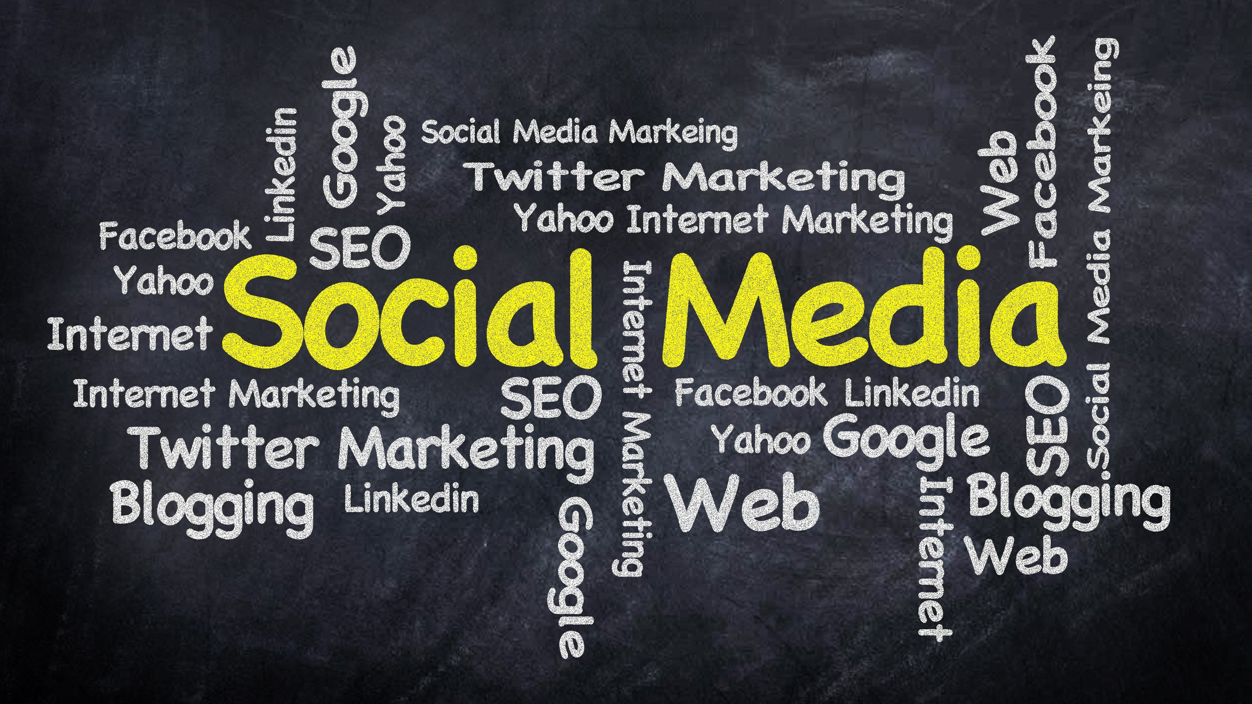 social media marketing typography banner 4k uhd cool wallpapers HD 4000x2250