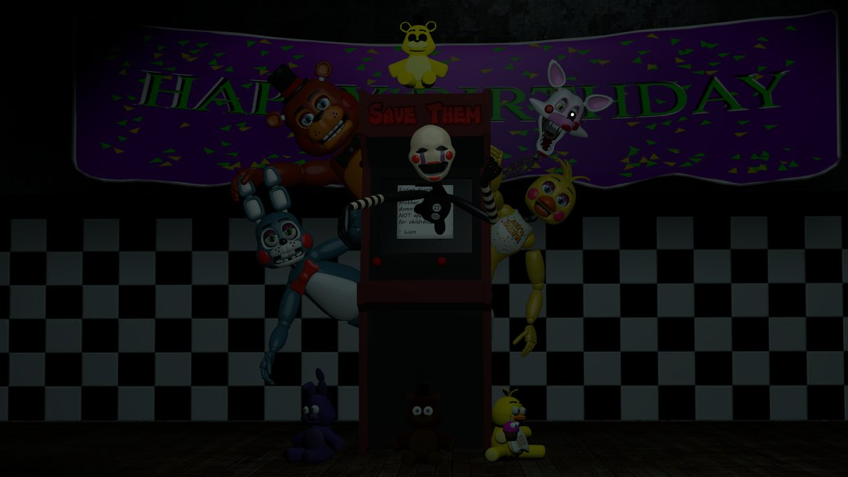 lets play a game fnaf 2 wallpaper by datfurryoverthere 1191x670
