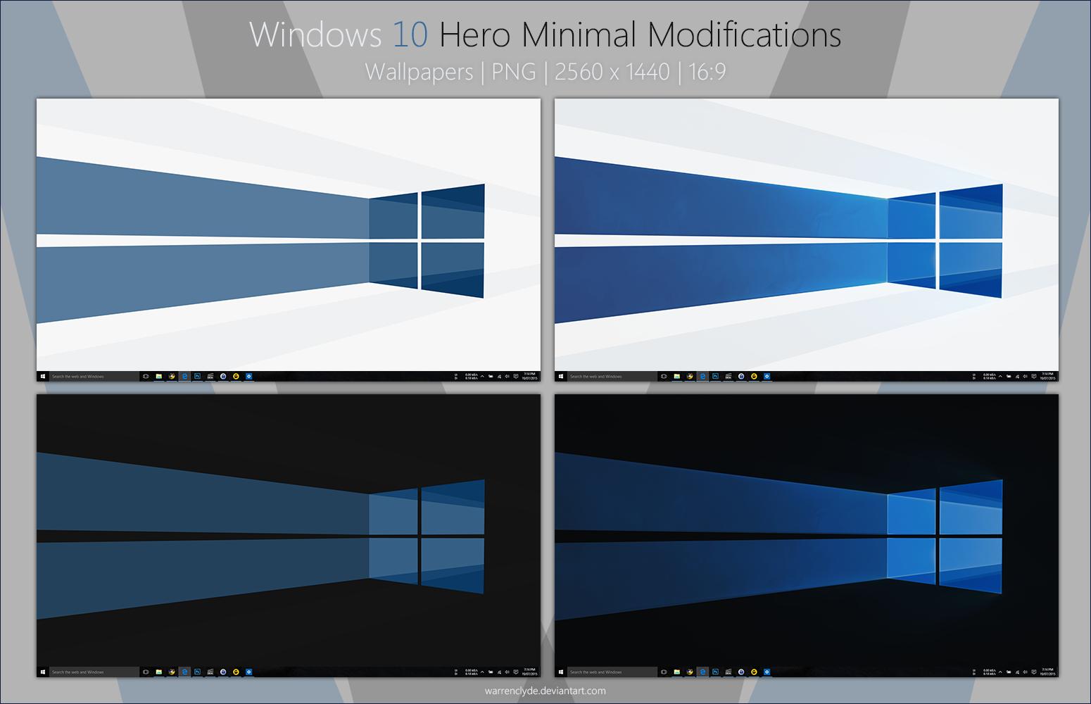 Windows 10 Hero Minimal Wallpapers MalwareTipscom 1550x1000