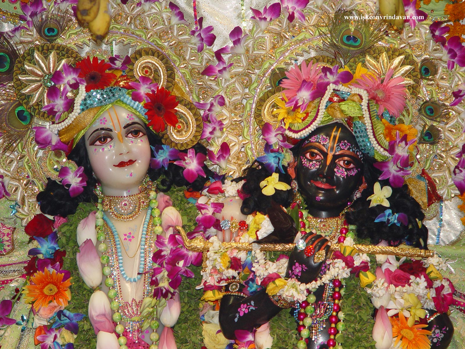 Wallpaper download krishna -  Iskcon Krishna Balram Radha Wallpapers