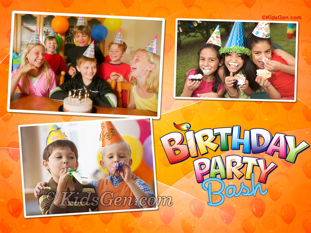 Birthday Wallpapers for kids 1024x768