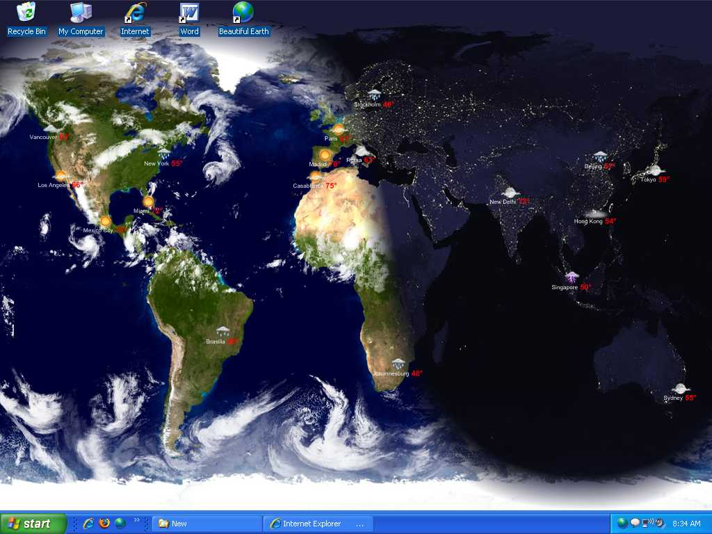 Live Earth Desktop Wallpaper Windows 7