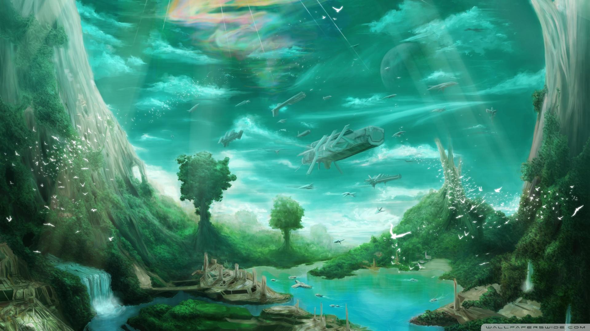 Fiction Paradise Wallpaper 1920x1080 Science Fiction Paradise 1920x1080