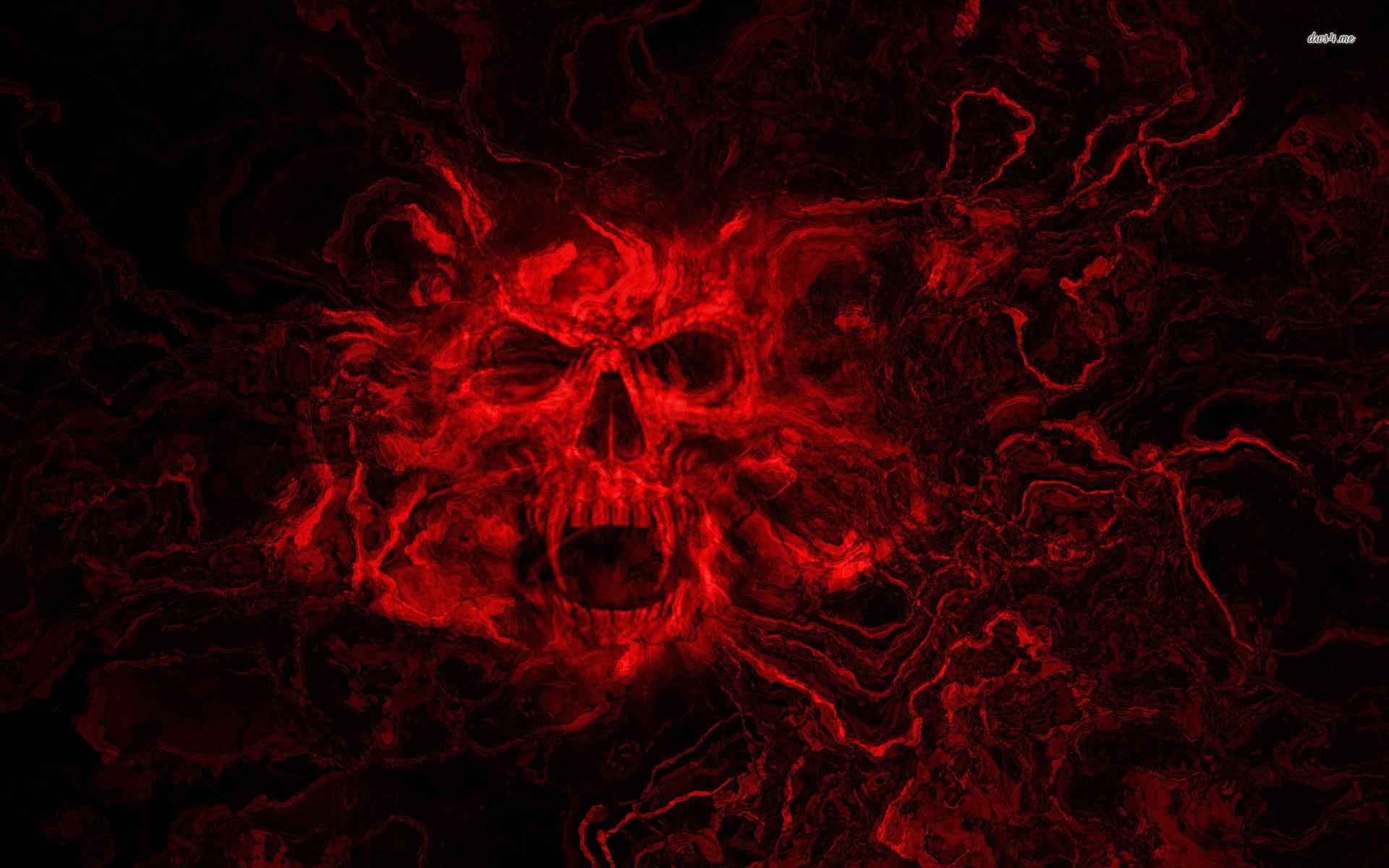 Red skull wallpaper   Digital Art wallpapers   12294 1920x1200