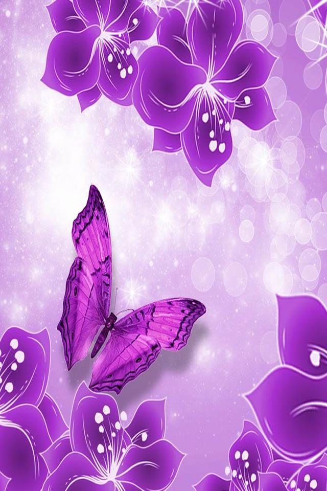 Purple butterfly wallpaper - photo#32