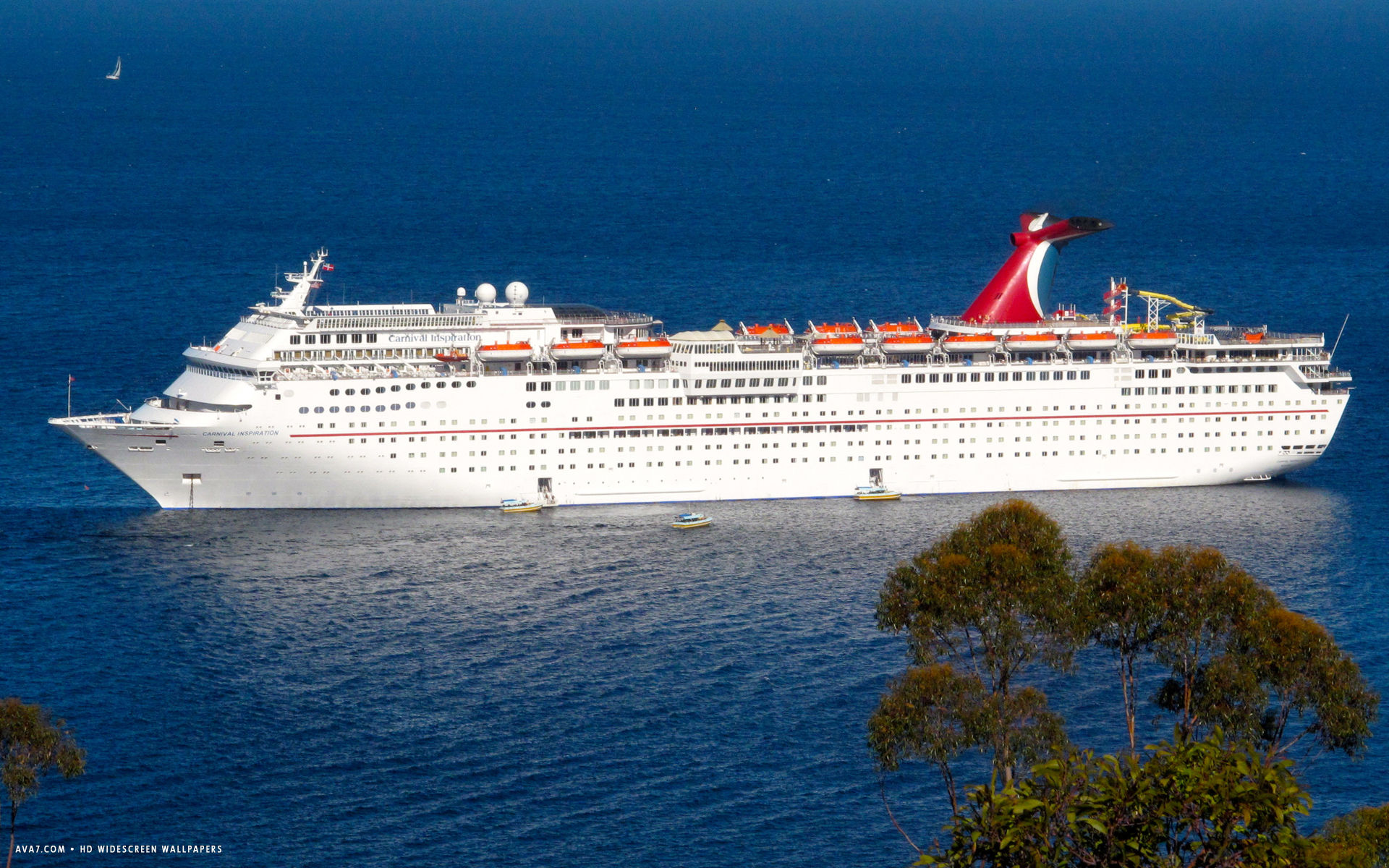carnival inspiration cruise ship hd widescreen wallpaper cruise 1920x1200