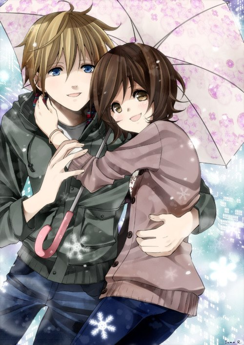 Anime images cute couple wallpaper photos 31776425 500x707