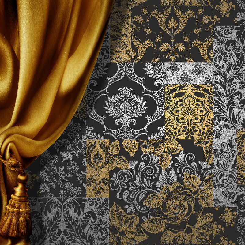 Vymura Brocade Suede Effect Wallpaper 800x800