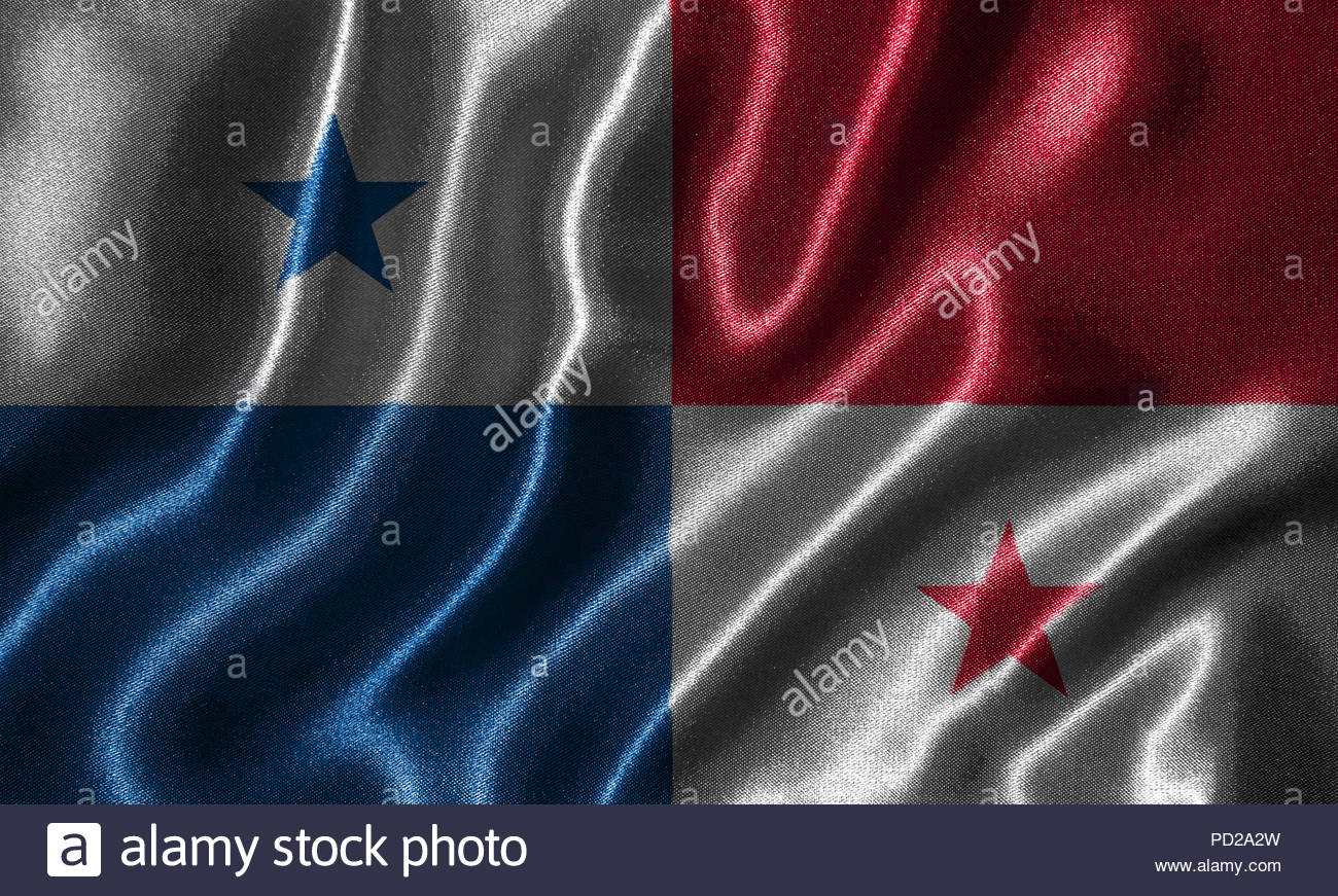 Panama flag   Fabric flag of Panama country Background and 1300x871