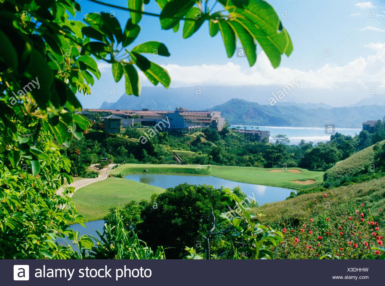 Hawaii Kauai Princeville Sheraton Resort Pond Golf Course 1300x966