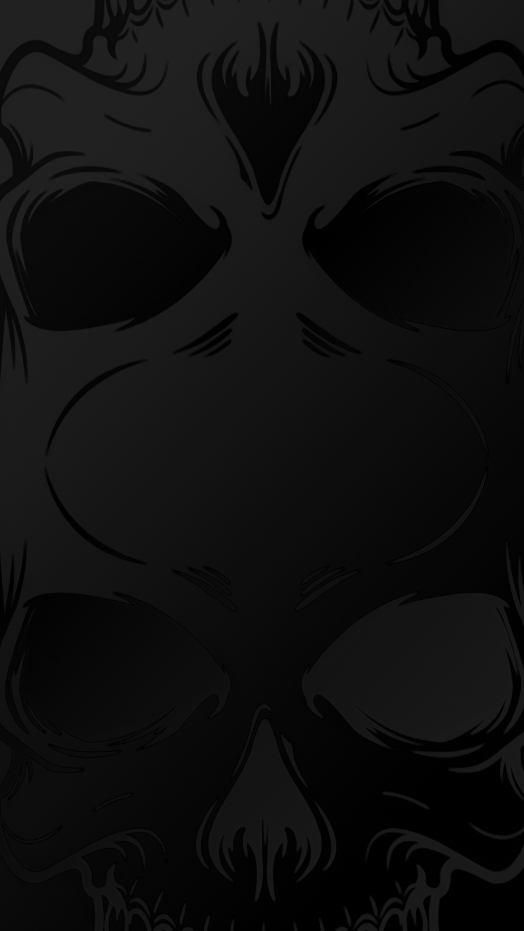 Stealth Skull Cool iPhone Background 1080x1920