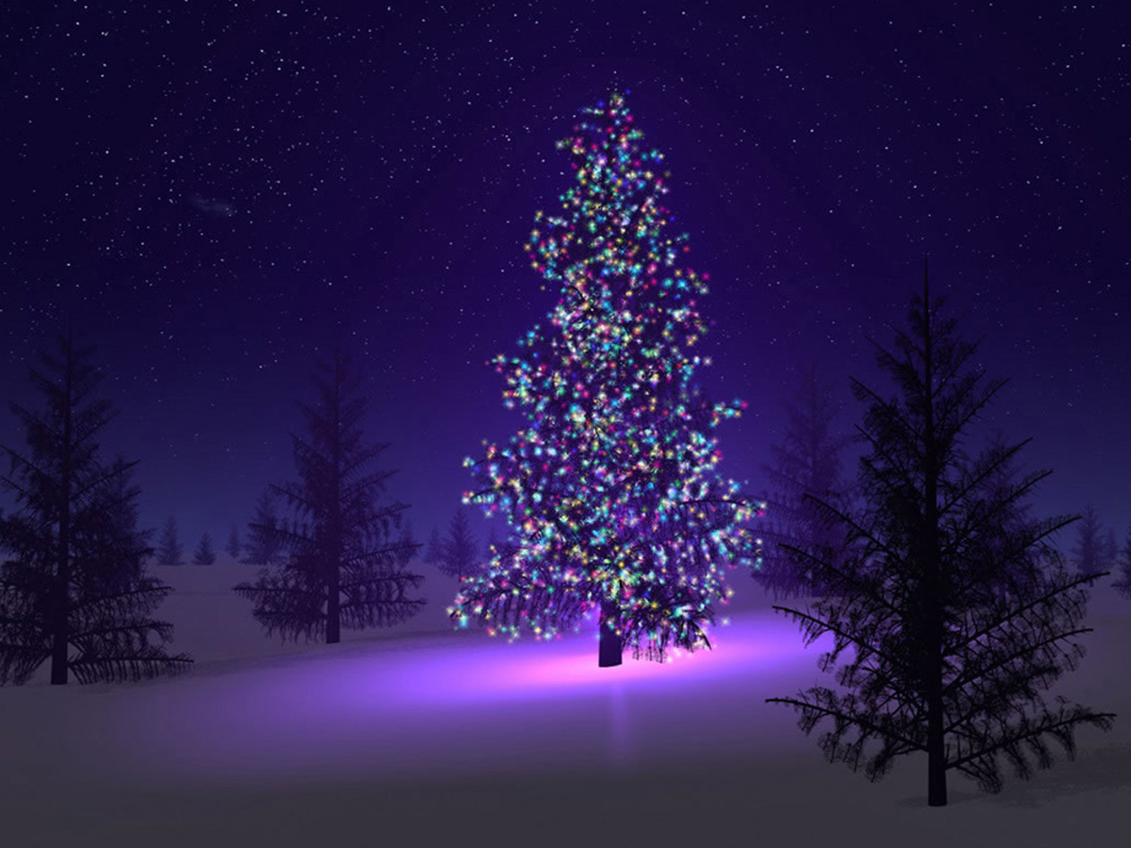 wallpaper Christmas Trees Wallpapers 1600x1200