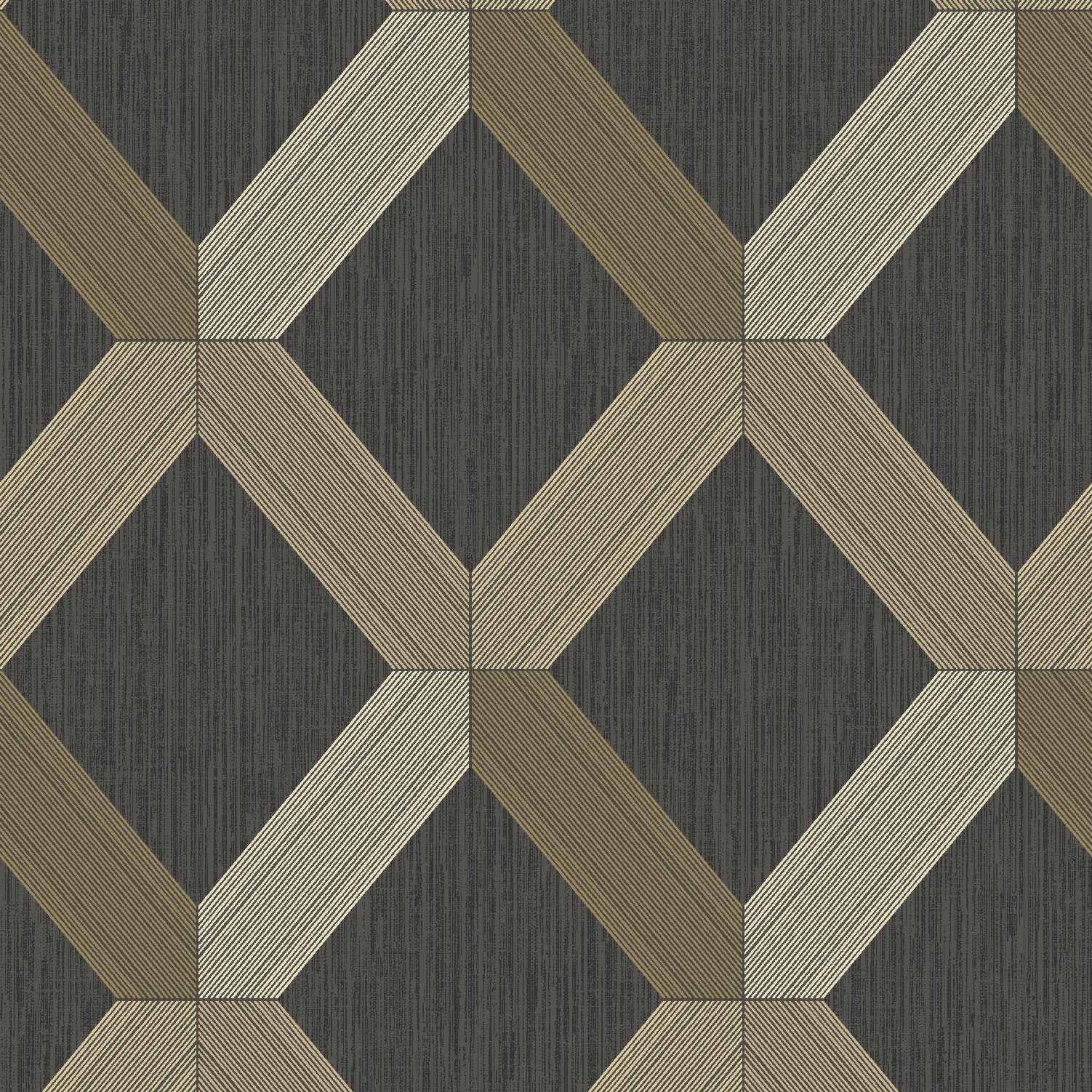 Lozenga   BlackGold Wallpaper and wallcoverings from Holden Decor 1502x1502