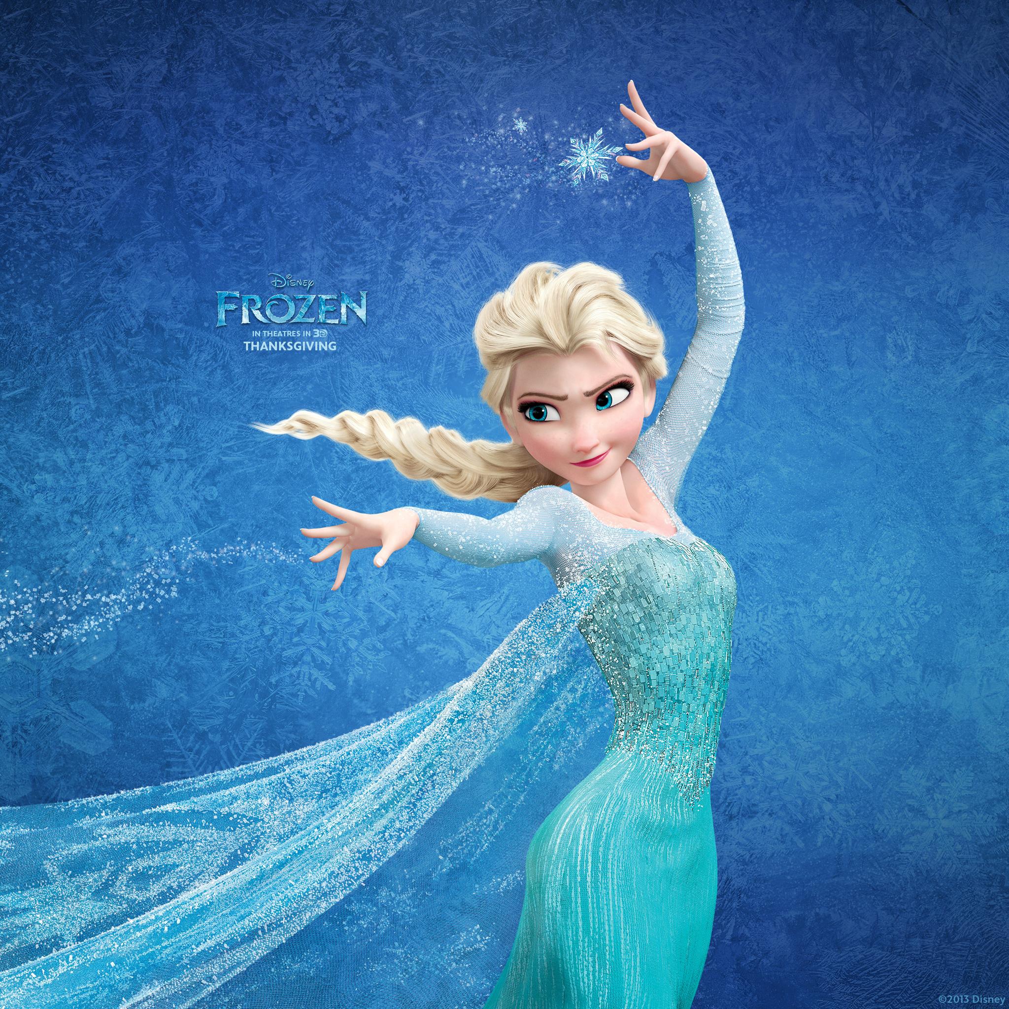 Queen Elsa Frozen Movie Wallpaper in High Resolution at Cartoons 2048x2048