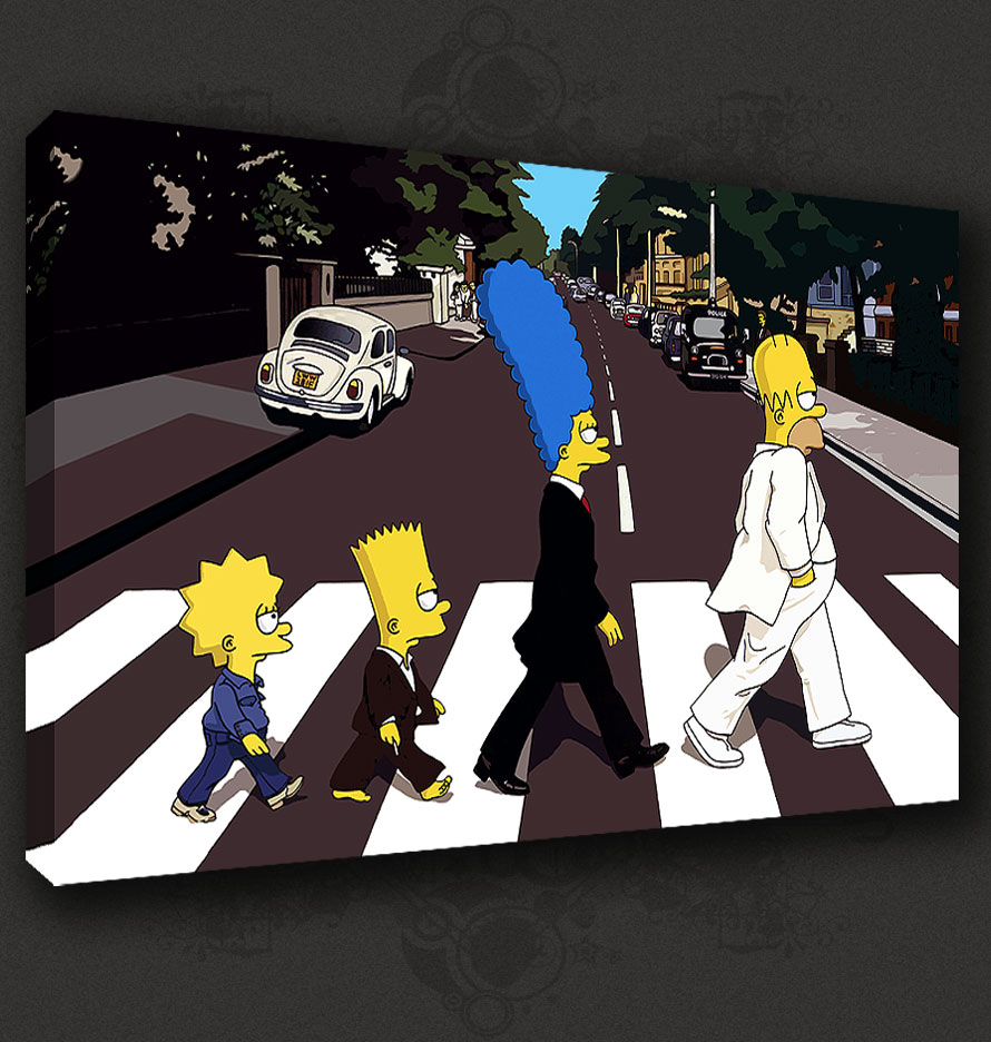The simpsons abbey road wallpaper wallpapersafari - The simpsons abbey road wallpaper ...
