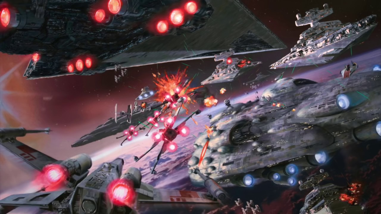 Star Wars Ambience Space Battle Background X Wing Tie Fighter 1280x720