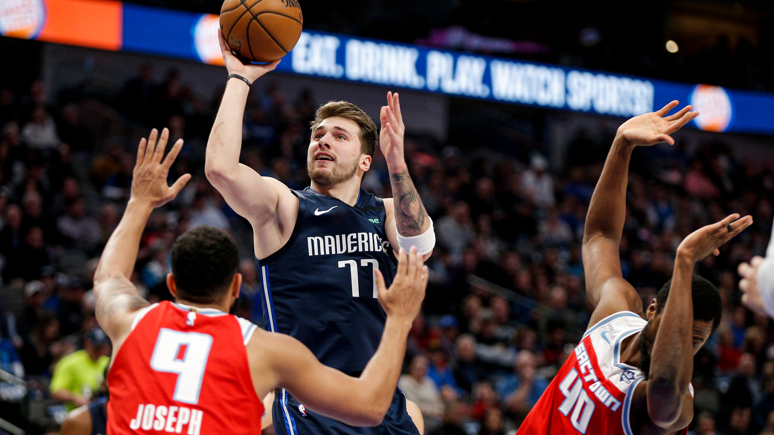 Doncic shines in return from injury Mavs beat Kings 130 111 2560x1440