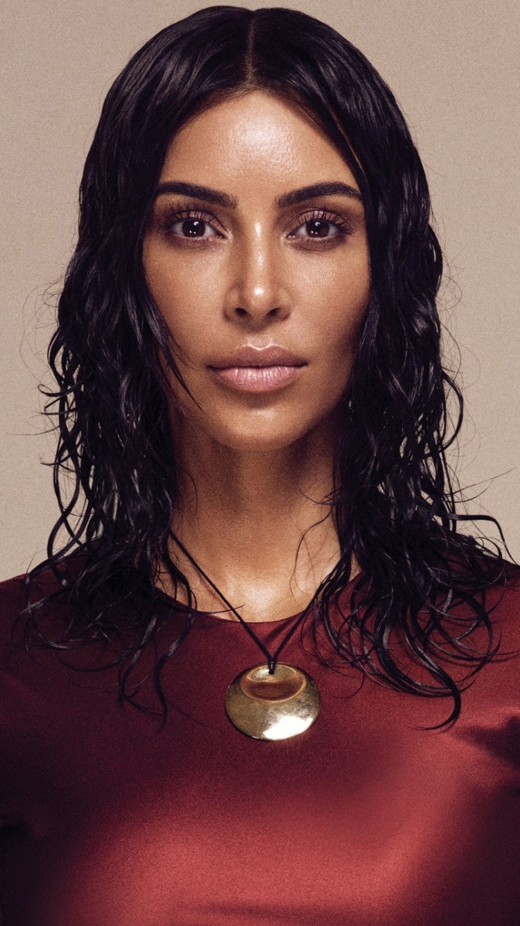 Download 750x1334 wallpaper supermodel vouge kim kardashian