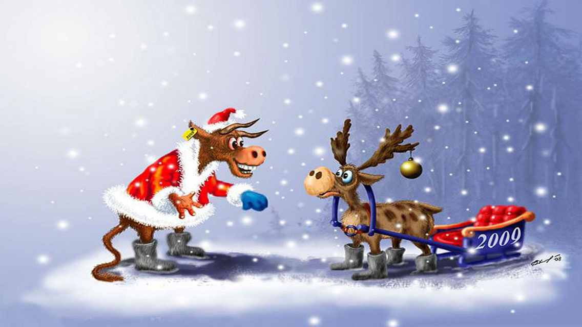 Download Funny Christmas HD Wallpapers for iPhone 5 HD 1136x640