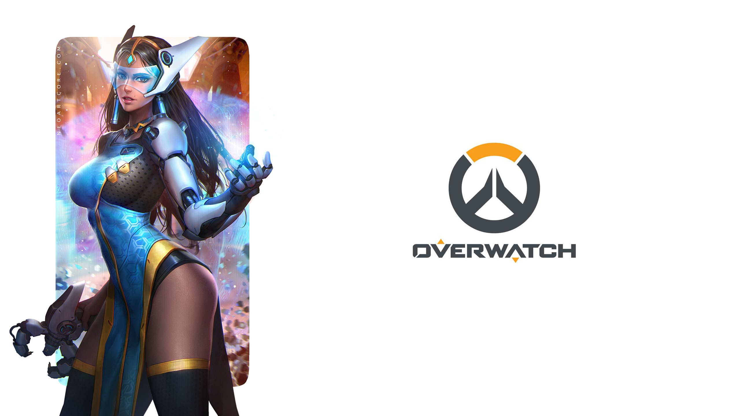 OVERWATCH shooter action fighting mecha sci fi strategy wallpaper 2560x1440