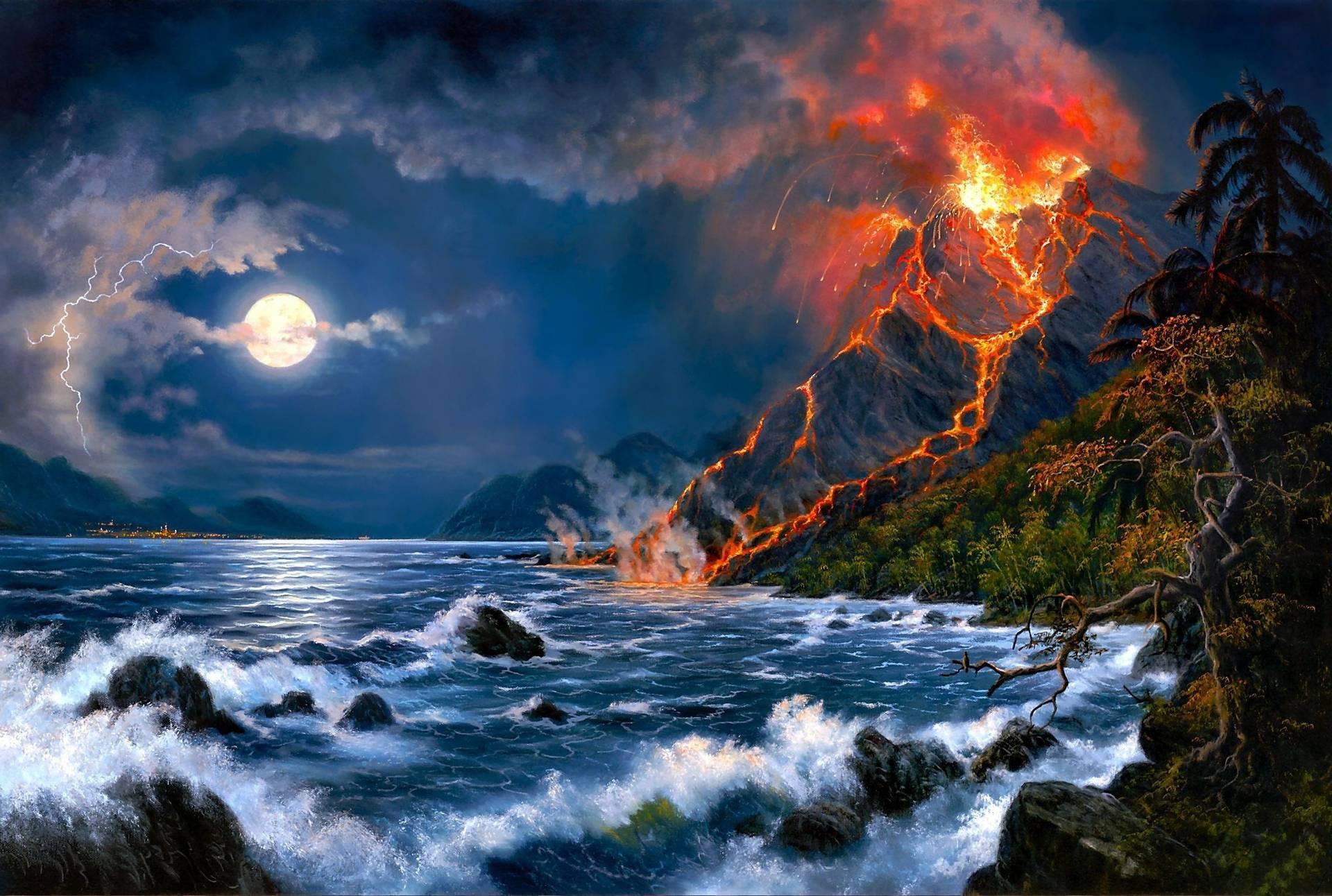Volcano Wallpapers 1920x1292
