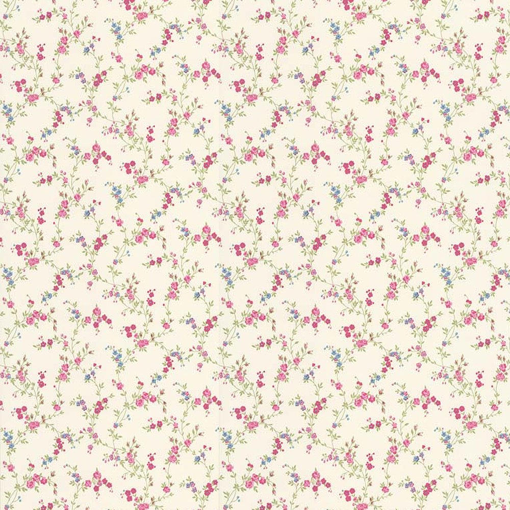 Home Wallpaper Crown Crown Cosy Posy Wallpaper Candy Pink 1000x1000
