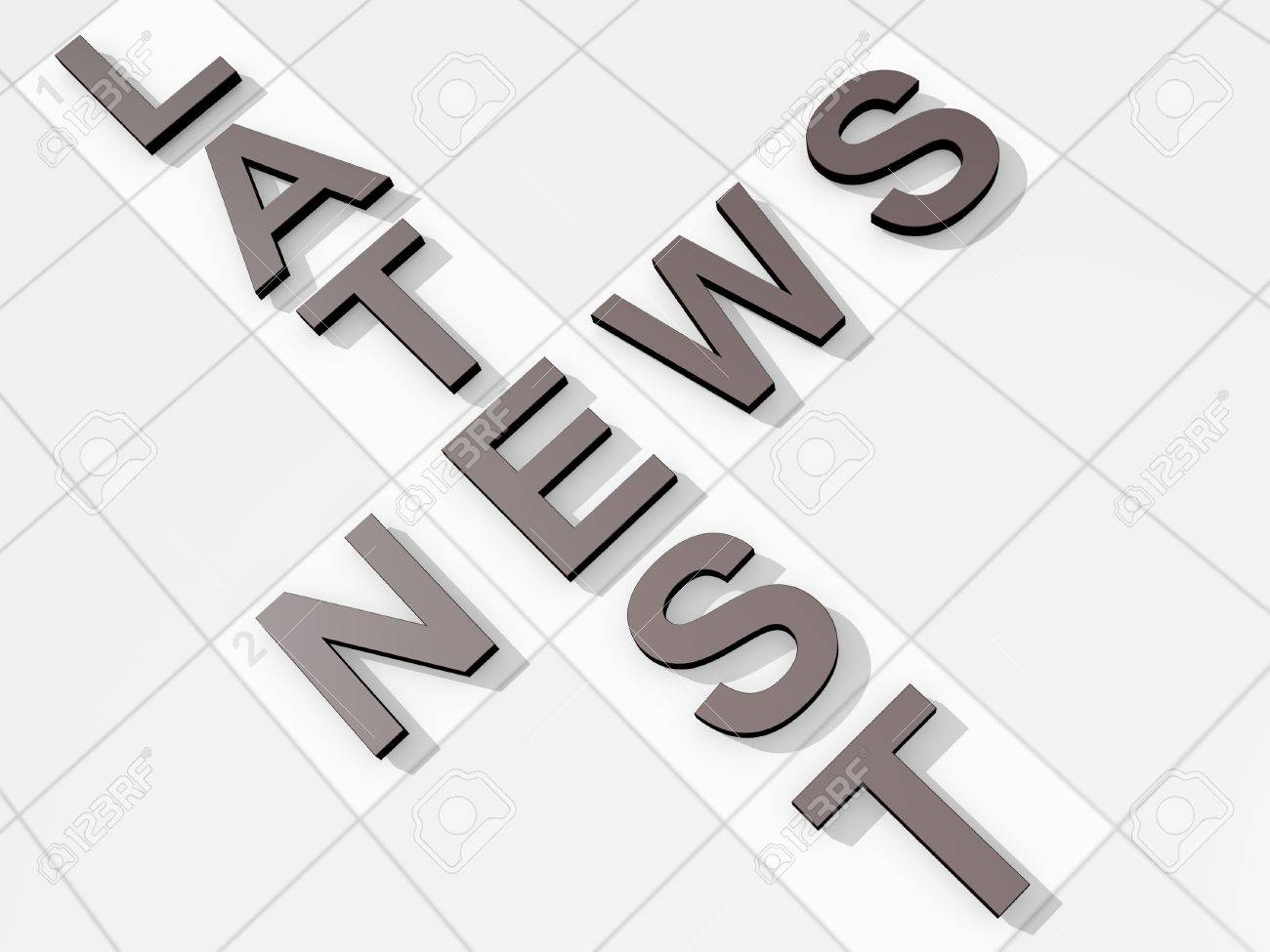 The Words Latest News On A Feint Crossword Background Stock Photo 1300x975