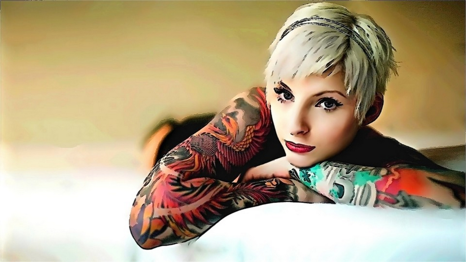 Tattooed Women Wallpapers Part 2 1600x900