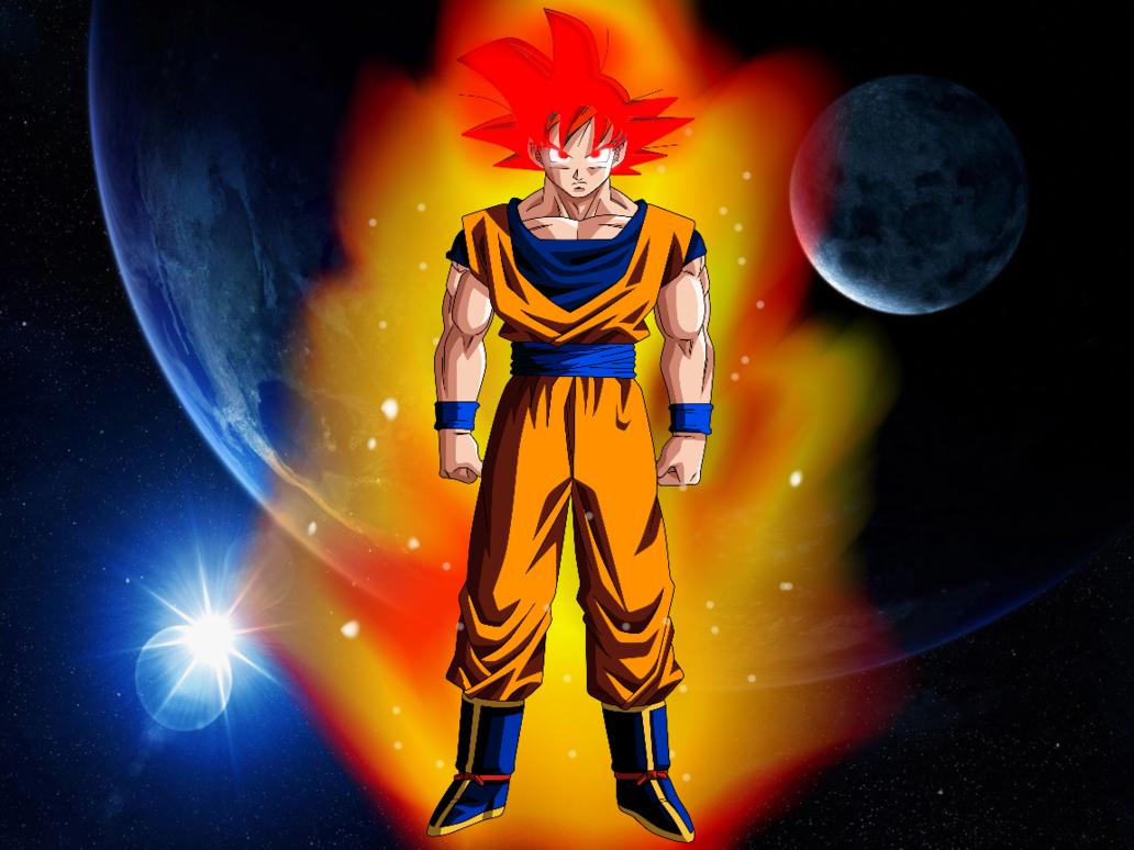 Goku Super Saiyan God Wallpaper By 1032x774
