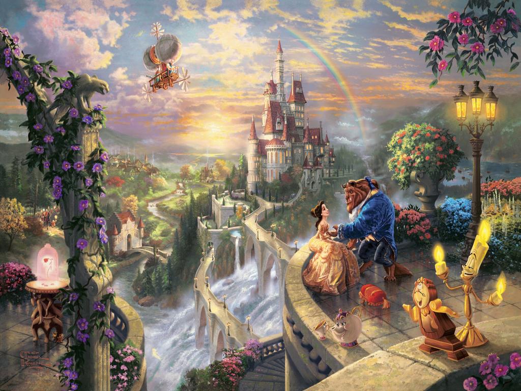 Beauty and the Beast Wallpaper   Disney Princess Wallpaper 28961333 1024x768
