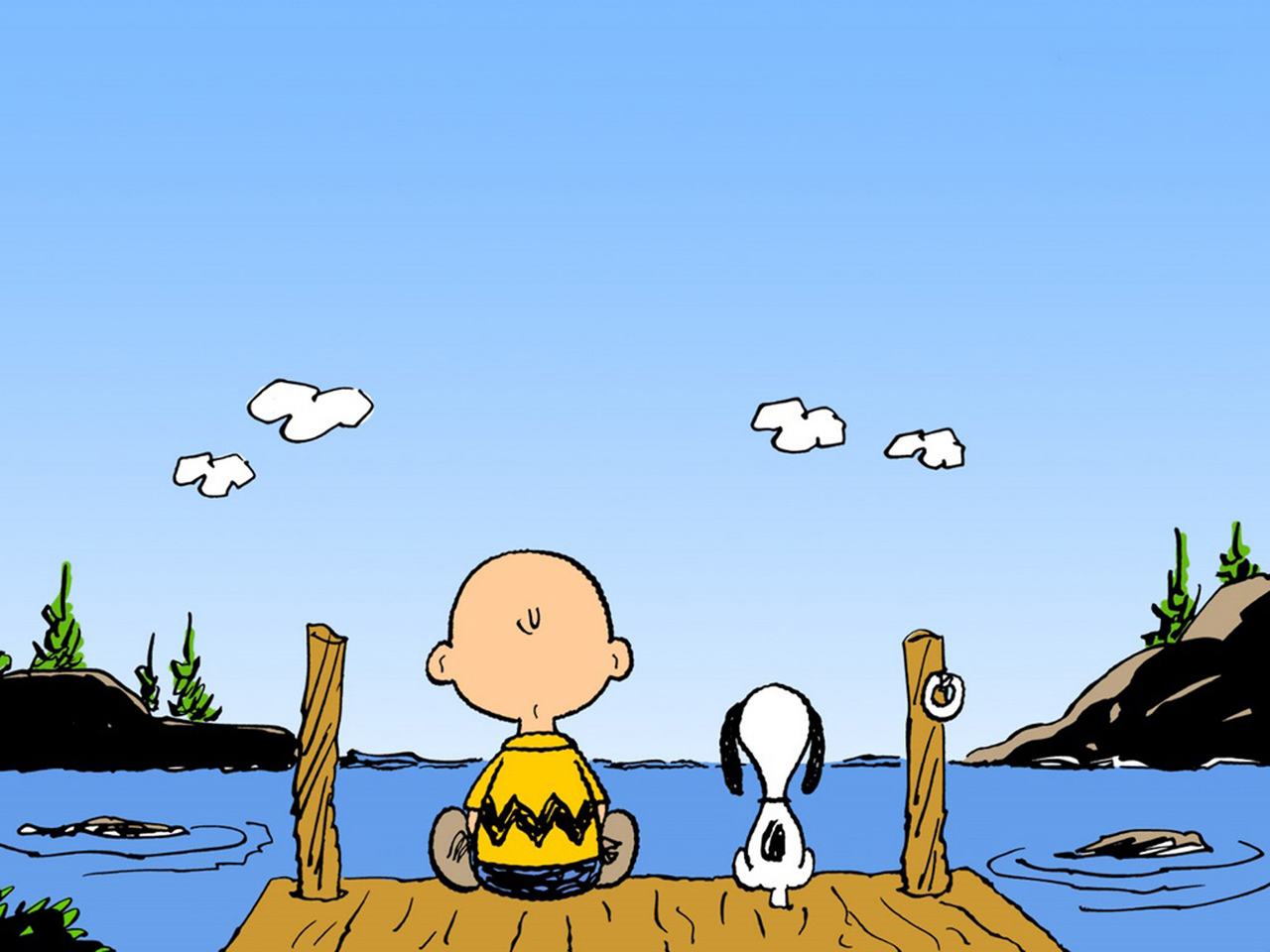 Charlie Brown And Snoopy computer desktop wallpapers pictures 1280x960