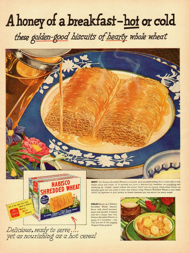 Salty hot shreaded wheat with syrup Wallpaper Food Vintage 625x837