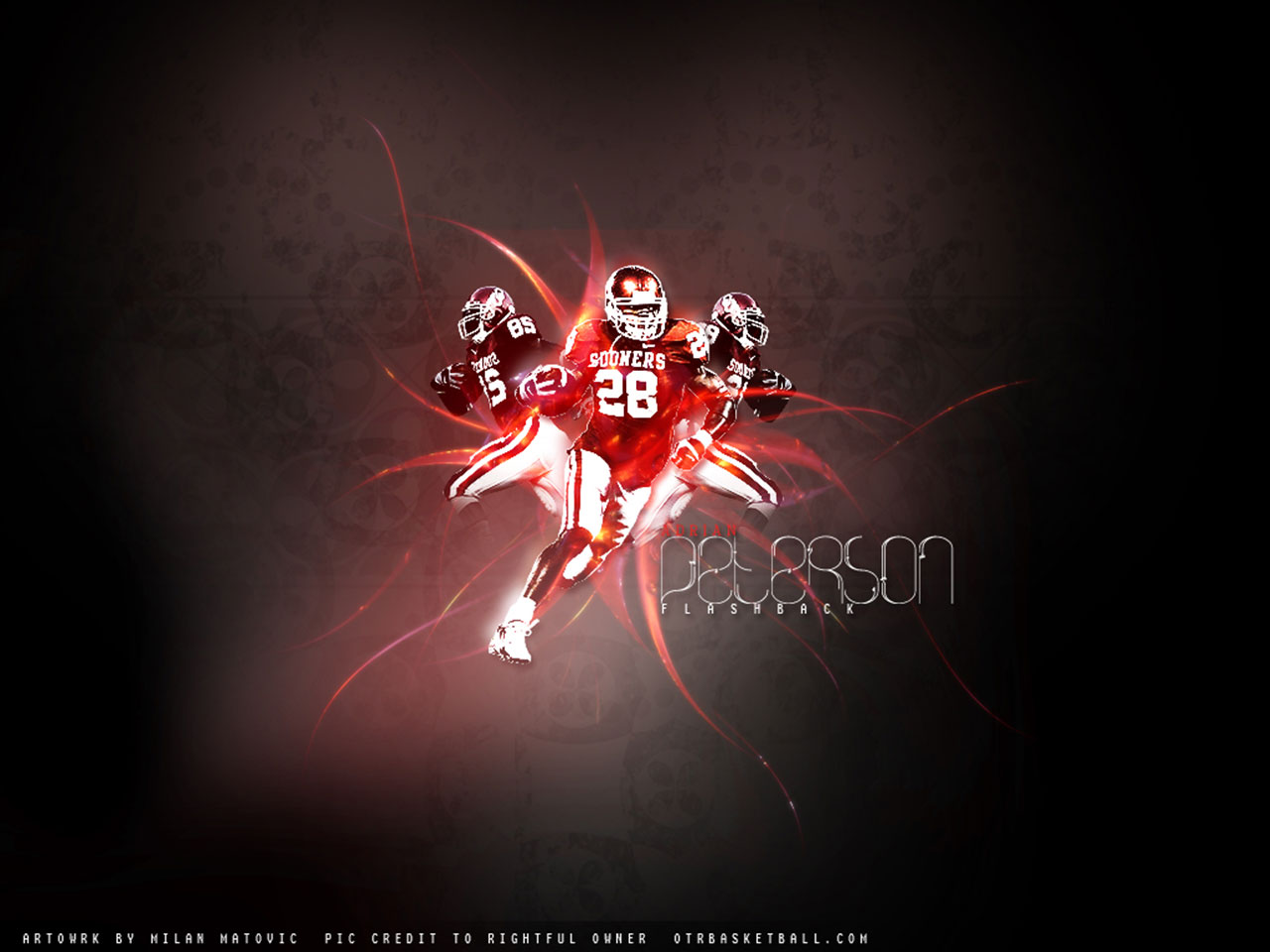 Wallpapers   Adrian Peterson Oklahoma Sooners wallpaper 1280x960