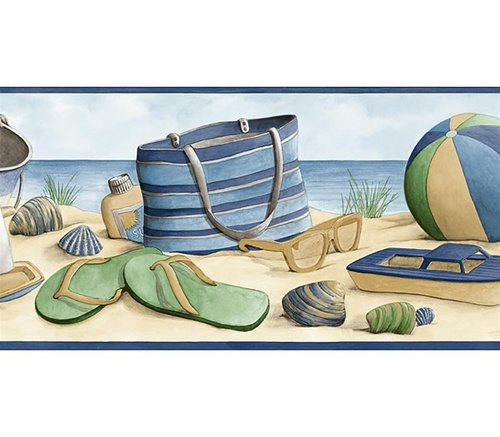 Beach Wall Border by surf room designer Dean Miller 500x437