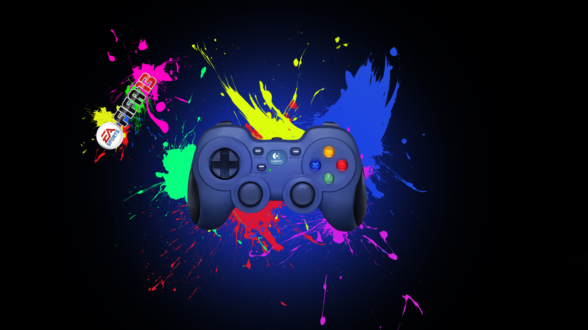 Black background joystick Logitech wallpapers and images 1920x1080