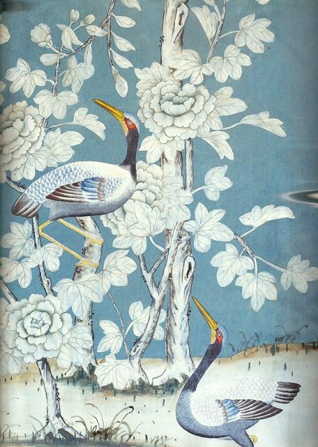 Chinoiserie   de Gournay Wallpaper all things chinoiserie IV Pint 456x640