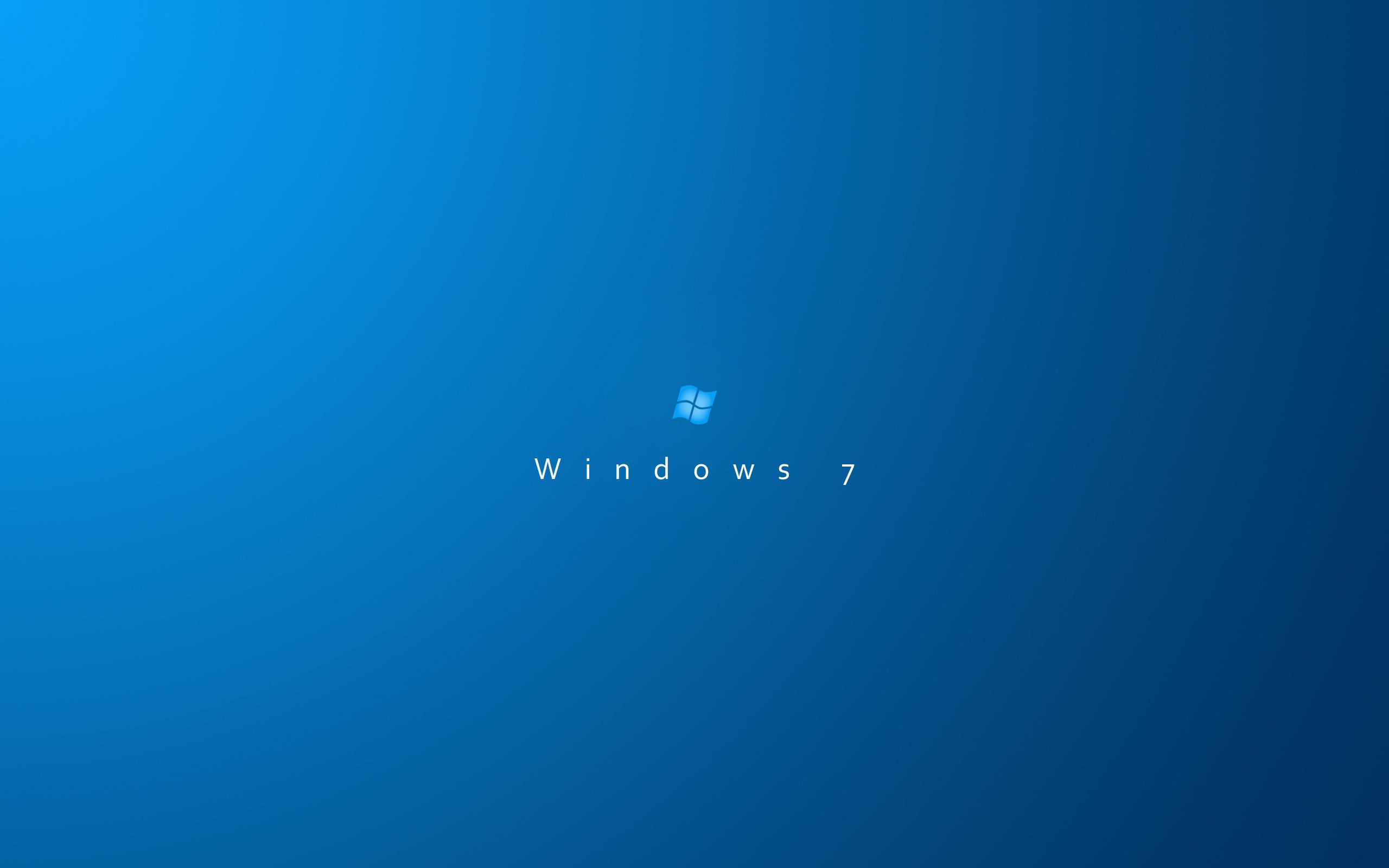 Hi tech windows 7 blue background minimalism wallpaper 2560x1600
