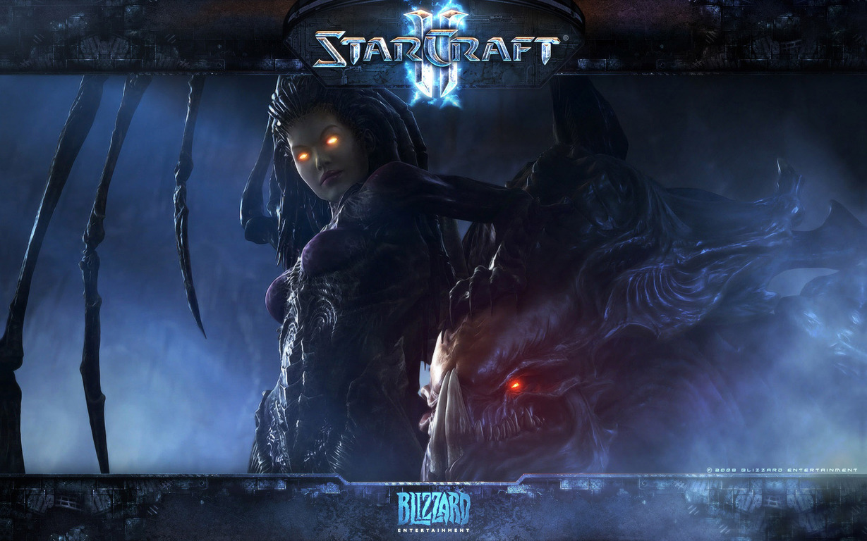 Download Sarah Kerrigan   StarCraft II wallpaper 1229x768