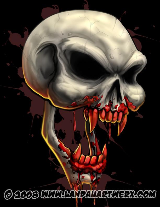 Badass Skull Wallpaper Dracula skull by 612x792