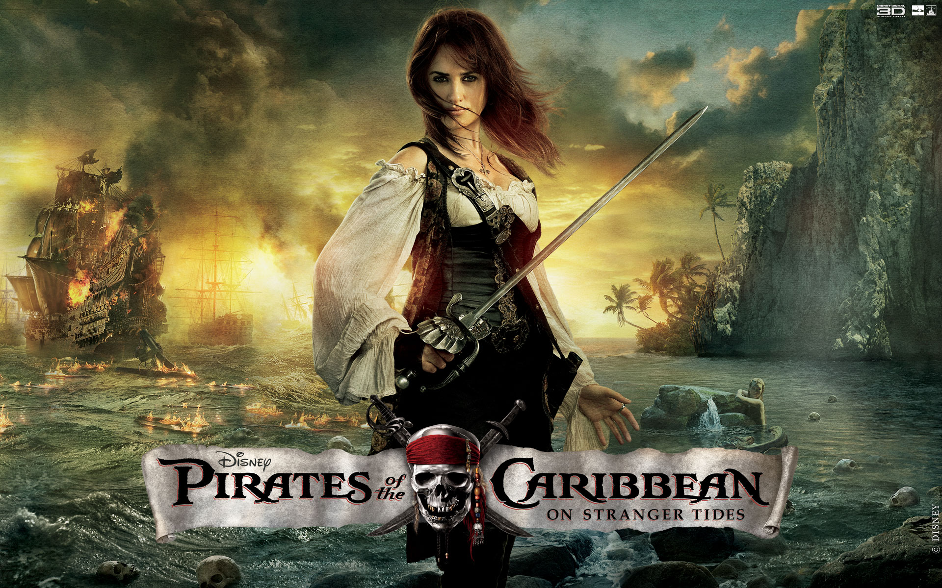 pirates of the caribbean 4downloadswallpaper widescreen angelicajpg 1920x1200