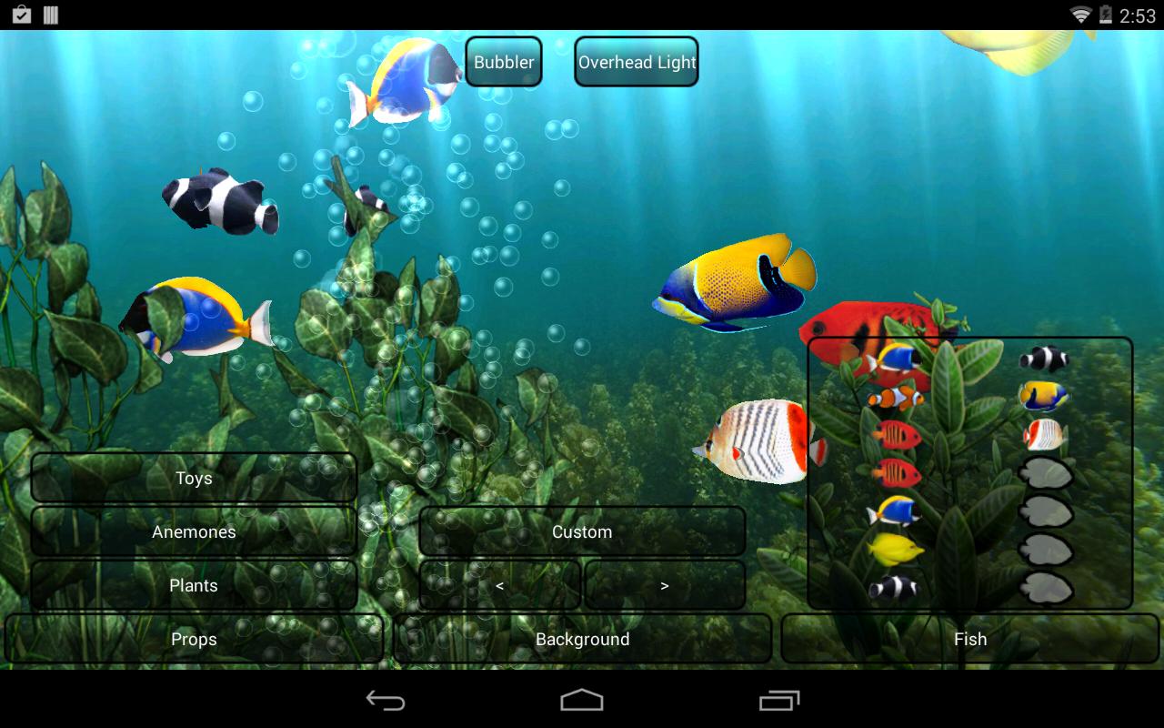 Aquarium Live Wallpaper Android S
