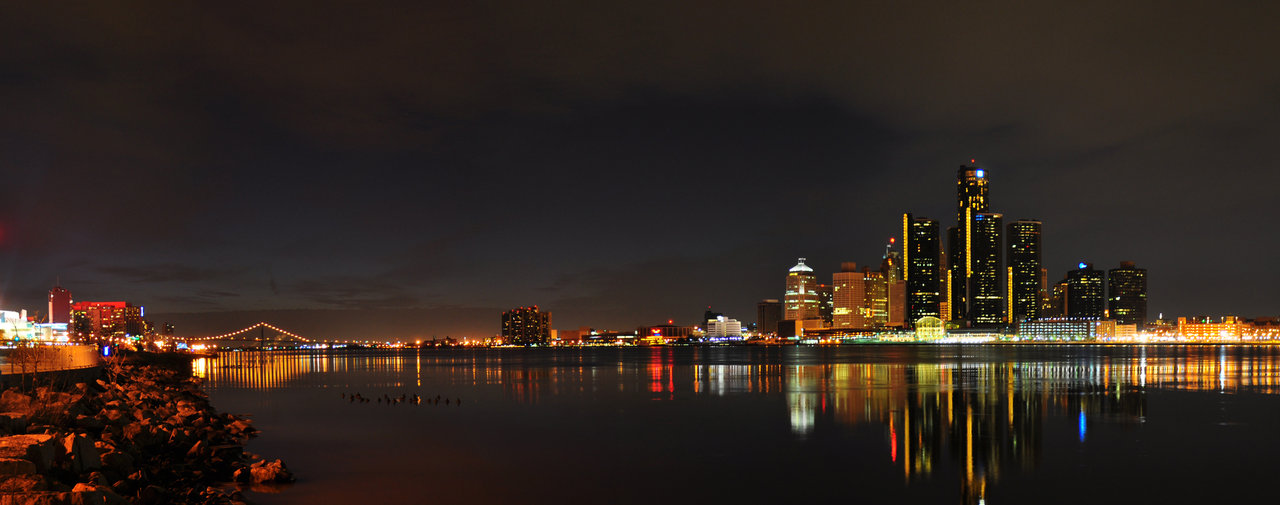 68 Detroit Skyline Wallpaper On Wallpapersafari