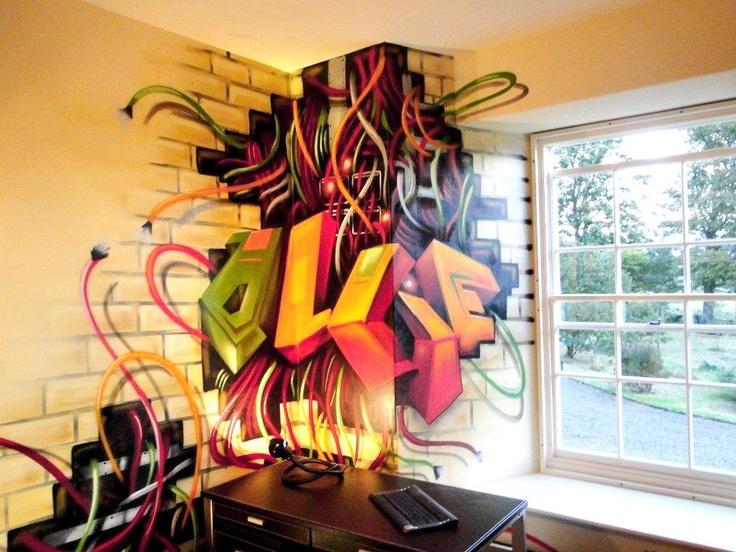 Bedrooms Graffiti Interior Kids Bedroom Bedroom Graffiti Bedroom 736x552