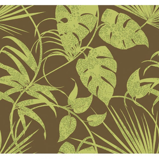 Leaves on Chocolate Brown 27 wide Wallpaper   All 4 Walls Wallpaper 650x650